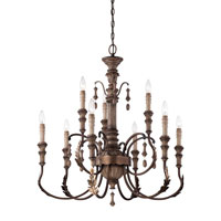 Minka-Lavery Candlewood 9 Light Chandelier in Rustique Patina  4129-563