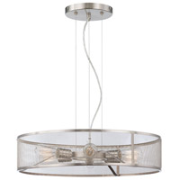 Minka-Lavery Downtown Edison 6 Light Pendant in Brushed Nickel 4136-84