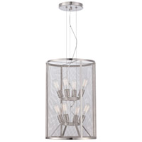 Minka-Lavery Downtown Edison 8 Light Pendant in Brushed Nickel 4137-84
