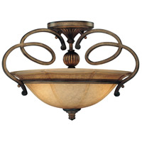 Minka-Lavery La Cecilia 3 Light Semi-flush in Patina Iron 4142-573