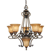 Minka-Lavery La Cecilia 5 Light Chandelier in Patina Iron 4145-573