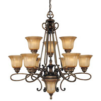 Minka-Lavery La Cecilia 10 Light Chandelier in Patina Iron 4149-573