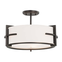 Minka-Lavery Fieldale Lodge 3 Light Semi-flush in Smoked Iron 4152-172