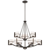 Fieldale Lodge 9 Light Smoked Iron Chandelier Ceiling Light