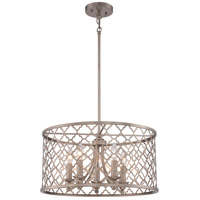 Signature 5 Light 20 inch Champagne Gold Pendant Ceiling Light