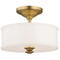 Harbour Point 2 Light 14 inch Liberty Gold Semi Flush Mount Ceiling Light