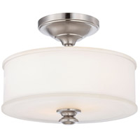 Harbour Point 2 Light 14 inch Brushed Nickel Semi Flush Mount Ceiling Light