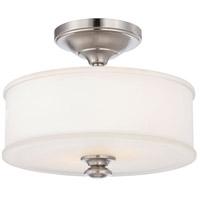 Minka-Lavery 4172-84 Harbour Point 2 Light 14 inch Brushed Nickel Semi Flush Mount Ceiling Light