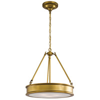 Harbour Point 3 Light 19 inch Liberty Gold Pendant Ceiling Light