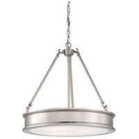 Harbour Point 3 Light 19 inch Brushed Nickel Pendant Ceiling Light
