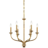 Minka-Lavery Harbour Point 6 Light Chandelier in Liberty Gold 4176-249