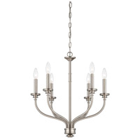 Minka-Lavery Harbour Point 6 Light Chandelier in Brushed Nickel 4176-84