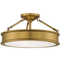 Harbour Point 3 Light 19 inch Liberty Gold Semi Flush Mount Ceiling Light