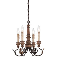 Minka-Lavery Preston Ridge 4 Light Mini Chandelier in Royal Oak Patina 4184-282