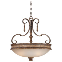 Minka-Lavery Abbott Place 3 Light Pendant in Classic Oak Patina 4203-290