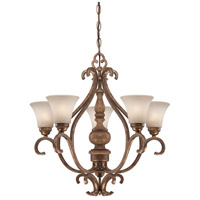 Minka-Lavery Abbott Place 5 Light Chandelier in Classic Oak Patina 4204-290 photo thumbnail