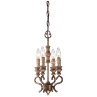 Minka-Lavery Abbott Place 4 Light Mini Chandelier in Classic Oak Patina 4206-290