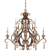 Minka-Lavery Abbott Place 9 Light Chandelier in Classic Oak Patina 4209-290