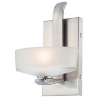 Minka-Lavery 4221-84 Eclante 1 Light 9 inch Brushed Nickel Bath Light Wall Light