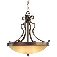 Minka-Lavery Atterbury 3 Light Pendant in Deep Flax Bronze 4233-288