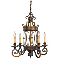 Atterbury 4 Light 23 inch Deep Flax Bronze Chandelier Ceiling Light