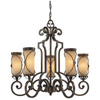 Atterbury 5 Light 29 inch Deep Flax Bronze Chandelier Ceiling Light