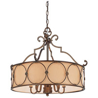 Atterbury 5 Light 25 inch Deep Flax Bronze Chandelier Ceiling Light