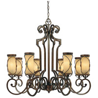Minka-Lavery Atterbury 8 Light Chandelier in Deep Flax Bronze 4238-288