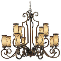 Atterbury 12 Light 43 inch Deep Flax Bronze Chandelier Ceiling Light
