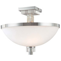 Minka-Lavery Cashelmara 2 Light Semi-flush in Chrome w/Natural Shell 4247-77