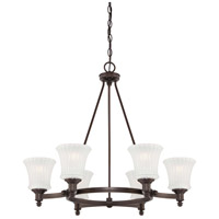 Minka-Lavery Hayvenhurst 6 Light Chandelier in Copper Bronze Patina 4306-647