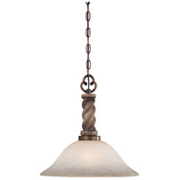 Minka-Lavery Regents Row 1 Light Pendant in Regents Patina 4311-299