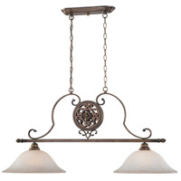 Regents Row 2 Light 44 inch Regents Patina Island Light Ceiling Light