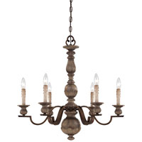 Minka-Lavery Regents Row 6 Light Chandelier in Regents Patina 4316-299