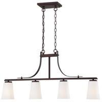 Zacara 4 Light 36 inch Artistic Bronze Island Light Ceiling Light