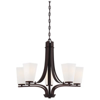 Minka-Lavery Zacara 5 Light Chandelier in Artistic Bronze 4325-577