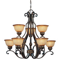 Minka-Lavery Brompton 9 Light Chandelier in Brompton Bronze 4339-561