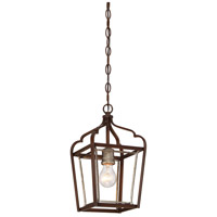 Astrapia 1 Light 8 inch Dark Rubbed Sienna/Aged Silver Mini Pendant Ceiling Light
