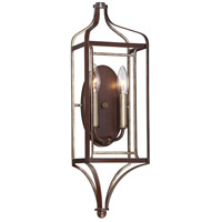 Astrapia 2 Light 7 inch Dark Rubbed Sienna/Aged Silver Wall Sconce Wall Light