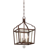 Astrapia 4 Light 13 inch Dark Rubbed Sienna With Aged Silver Foyer Pendant Ceiling Light