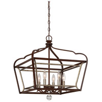 Astrapia 6 Light 20 inch Dark Rubbed Sienna/Aged Silver Pendant Ceiling Light