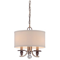 Minka Lavery Gwendolyn Place 3 Light Pendant in Dark Rubbed Sienna With Aged Silver 4352-593
