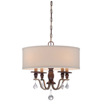 Minka Lavery Gwendolyn Place 4 Light Pendant in Dark Rubbed Sienna With Aged Silver 4354-593