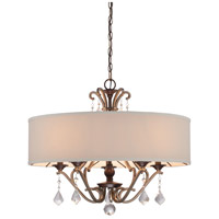 Minka Lavery Gwendolyn Place 5 Light Pendant in Dark Rubbed Sienna With Aged Silver 4355-593
