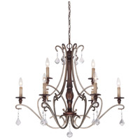 Gwendolyn Place 9 Light 35 inch Dark Rubbed Sienna/Aged Silver Chandelier Ceiling Light