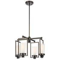 Harvard Court 4 Light 18 inch Harvard Court Bronze Plated Mini Chandelier Ceiling Light