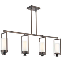 Harvard Court 4 Light 42 inch Harvard Court Bronze Plated Island Light Ceiling Light