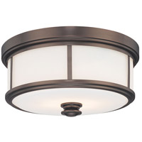 Harvard Court 2 Light 14 inch Harvard Court Bronze Plated Flush Mount Ceiling Light