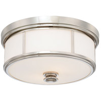Signature 2 Light 14 inch Polished Nickel Flush Mount Ceiling Light