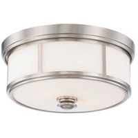 Minka-Lavery Harbour Point 2 Light Flush Mount in Brushed Nickel 4365-84